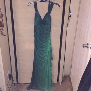 Green ombré sparkle dress